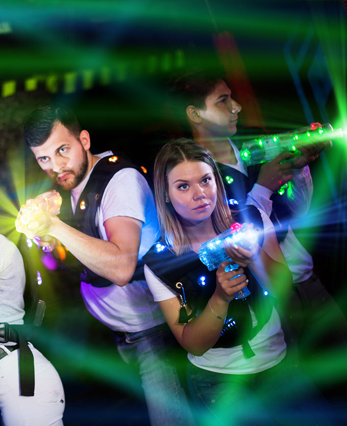 Guests Ready to Play Laser Tag